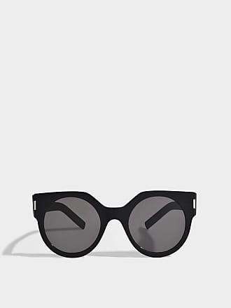Saint Laurent Unisex Sonnenbrille aus schwarzem Acetat 59Nn9Z79U