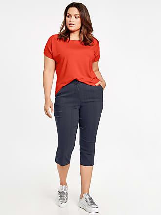 Stretchy capri trousers, Betty red-orange female Samoon