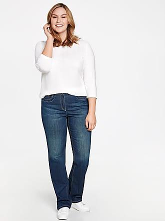 Jeans Stretch Avec Un Effet Délavé, Jeans Betty Blue Samoon Femelle