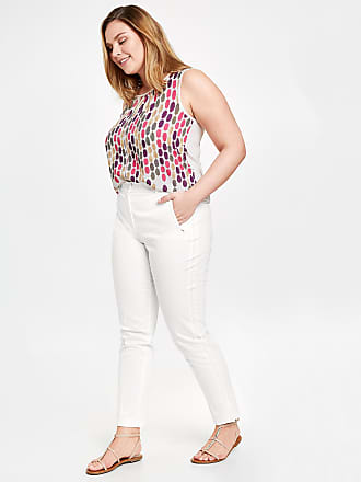 3/4-length stretch trousers, Greta ecru-beige female Samoon