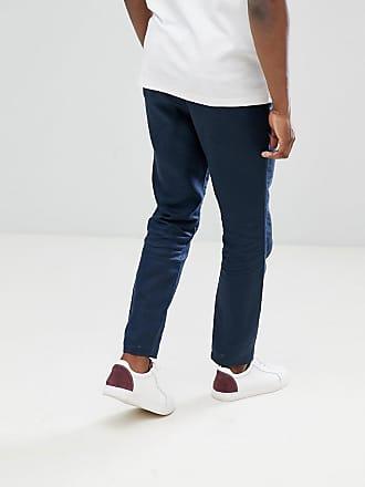 Pantalon De Lin En Forme Régulière - Saphir Noir Sélectionné 3floXvKqr