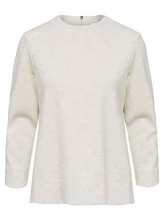 Locker Geschnittenes Sweatshirt Dames Beige Selected