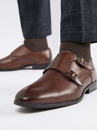 Cuir Fulham Chaussures Moine-bracelet - Brun Foncé Vert Edward yWW7s6IA8d