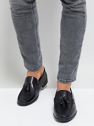 Wide Fit Tassel Loafers In Black Leather - Black Silver Street London Kc7FI