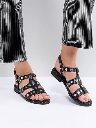 Gunther - Schwarze Sandalen mit Nieten - Bronze Sol Sana krouZlfA