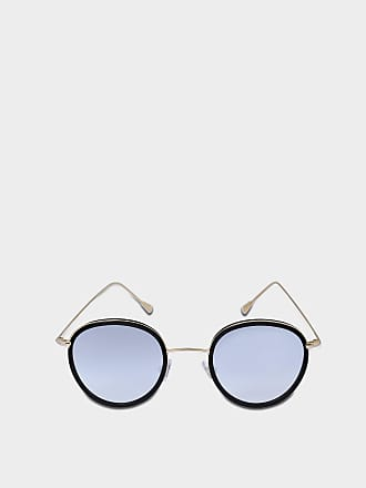 Spektre Morgan Sonnenbrille aus schwarzem und goldfarbenem rostfreiem Stahl und Acetat hiVvopQ