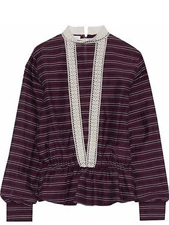 Stella Jean Woman Striped Cotton-blend Shirt Lavender Size 42 Stella Jean Shopping Online Cheap Online Latest Sale Online uRvJMGV