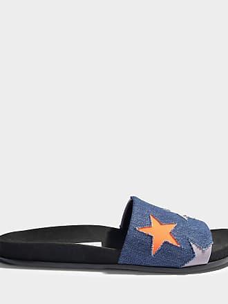 Chaussures De Mule Stella Mccartney Avec Des Étoiles Dans La Marine, De Pêche Et De Coton Lilas