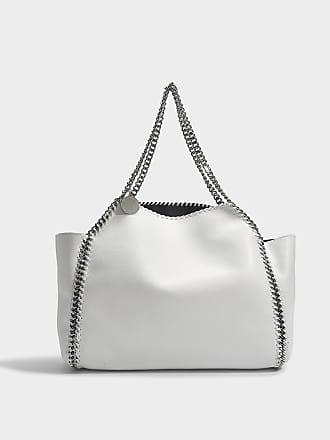Stella McCartney Tote Bag Oversize East West Stella Logo en Eco-Cuir Blanc mF1KBTD