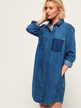 Jeans-Hemdkleid in Übergröße Superdry