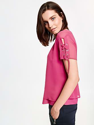 Layer-Bluse mit Schnürung am Arm Lila-Pink Damen Taifun