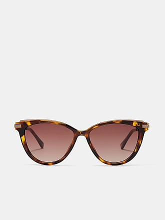 Hellbraune Retro-Sonnenbrille (Onesize) pPTpBD