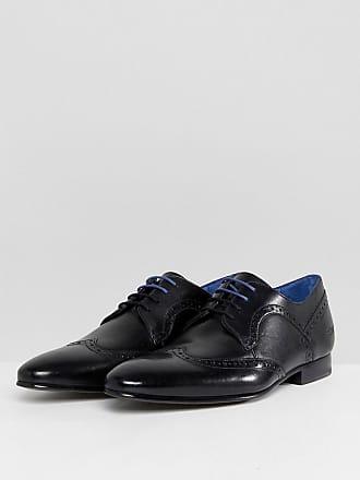 Boulanger Chaussures Ted Derby En Cuir Noir Peair En - Noir 5FZypUhi