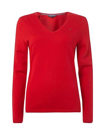 Pullover mit geripptem V-Ausschnitt Tommy Hilfiger