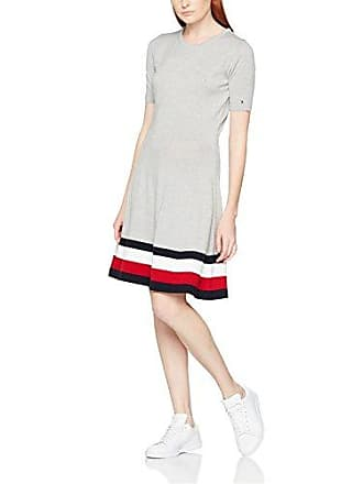Damen Kleid Adana Tipping C-NK Dress Tommy Hilfiger