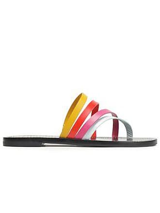 Tory Burch Woman Patos Color-block Leather Slides Multicolor Size 11 Tory Burch Ifha3fI0