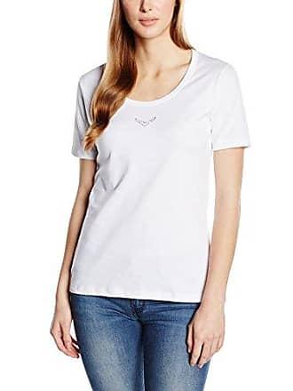 Trigema Damen T-Shirt mit Swarovski Kristallen-Camiseta Mujer, Blanco (Weiß 001), XX-Large