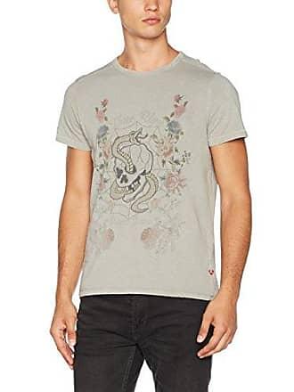 True Religion CREW - T-shirt imprimé - true olive cSYSI