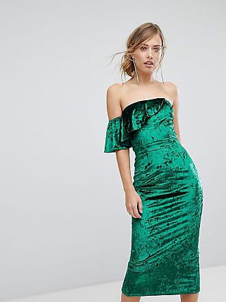 Popular And Cheap Velvet Fluted Sleeve Midi Dress With Open Back - Burgundy True Violet Big Sale Sale Online Ibb37nF