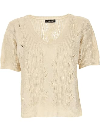 Pullover für Damen, Pulli Günstig im Sale, Goldfarben, Baumwolle, 2017, 40 44 Twin-Set
