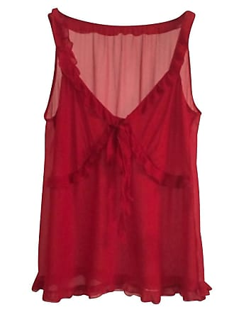 gebraucht - Seiden-Oberteil - DE 32 - Damen - Rot - Seide Valentino