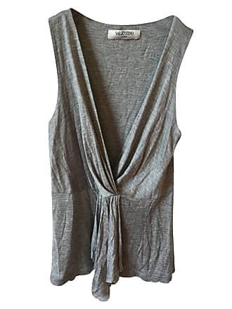 gebraucht - Top - DE 34 - Damen - Grau - Viskose Valentino