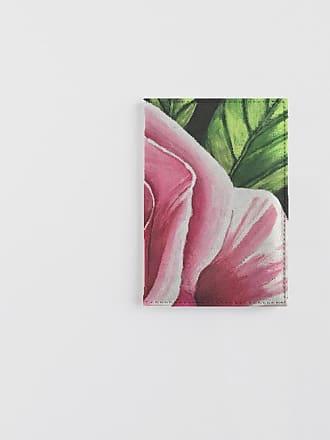 Leather Passport Case - PINK AND WHITE ROSES by VIDA VIDA pFOvya