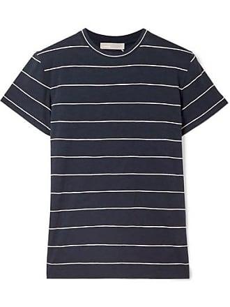 T-shirt Aus Gestreiftem Pima-baumwoll-jersey - Navy Vince