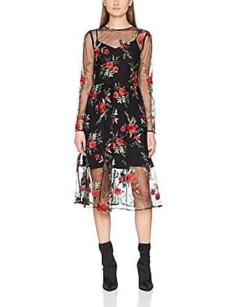 Damen Partykleid Floral Embroidered Warehouse