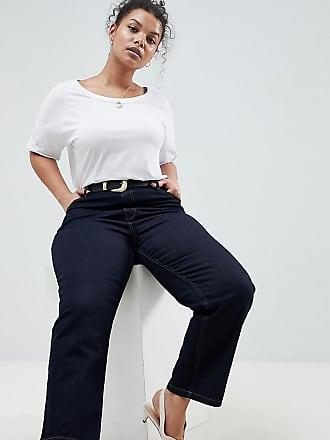 DESIGN - Farleigh - Gerade geschnittene Jeans in Raw Indigo-Waschung mit Westerngürtel - Blau Asos s06pnRadMG