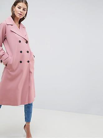 Mantel mit sportlichen Streifen - Rosa Asos y9BbgepC4