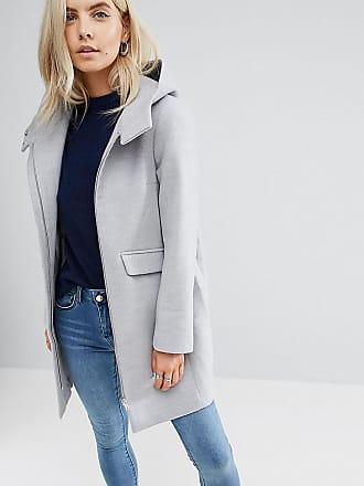 Neuesten Kollektionen Outlet-Store Online-Verkauf Mantel mit abnehmbareem Kunstfellfutter - Steingrau Asos Petite Spielraum In Mode Verkauf Blick xkYHnGOV