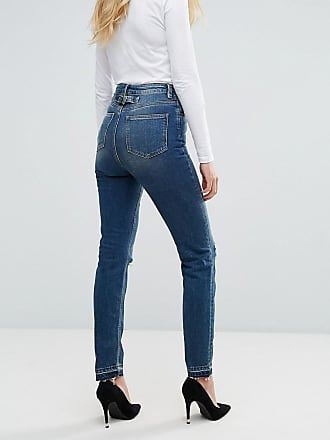 ASOS DESIGN Tall - Egerton - Ausgestellte%2c kurz geschnittene Jeans in mittlerer Vintage-Waschung - Blau Asos Tall Z5D0tJ