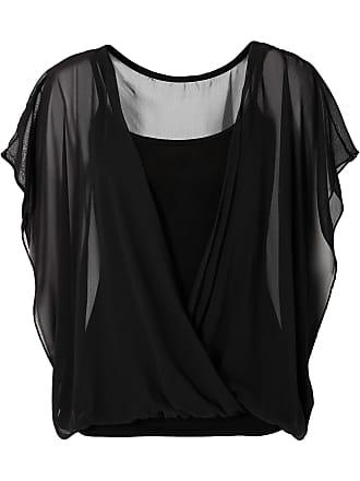 Shirtbluse kurzer Arm in schwarz (Rundhals) von bonprix Bodyflirt wAteXu