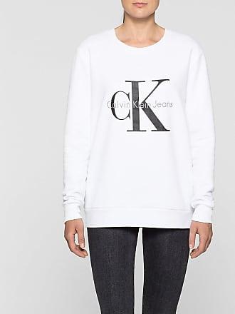 Jeans - Sweatshirt mit Rundhalsausschnitt und Logo - Silber Calvin Klein leZliWOkuc