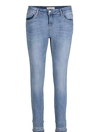 Jeans%2c für Frauen%2c Light Blue Denim%2c Schrittlänge: 74 cm%2c Eingriffstaschen Stil%2c Reißverschluss Cartoon YP3LOGt
