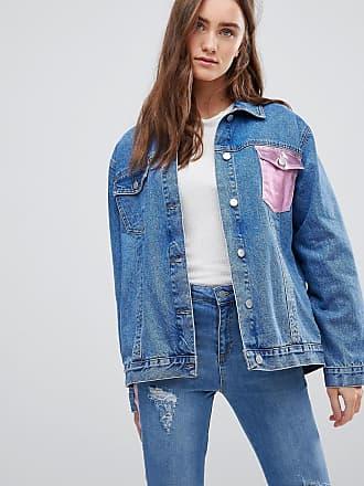 Oversize-Jeansjacke mit Schnürung an den Ärmeln - Blau Chorus Plus m01mtAmyvk