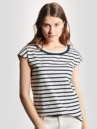 Damen-T-Shirt%2c Ajour-Muster jeansblau Cyrillus JhSO0xJ