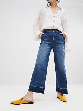 Girlfriend-Jeans mit Stickerei - Grau Free People huwfzH