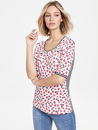 1/2 Arm Shirt mit grafischem Print Ecru-Beige Damen Gerry Weber