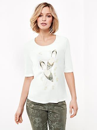 1/2 Arm Shirt mit Frontdruck Ecru-Beige Damen Gerry Weber