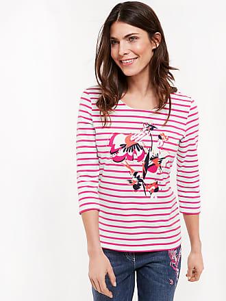 Niedriger Versand Unter 50 Dollar 3/4 Arm Shirt organic and fair Mustermix Lila-Pink Damen Gerry Weber Auslass-Angebote plGnY69jD