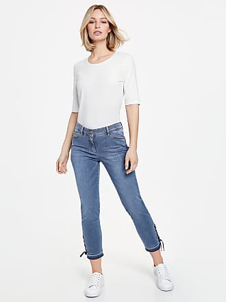3/4 Jeans mit Perlen am Saum Blau Damen Gerry Weber IA0Ha3THp