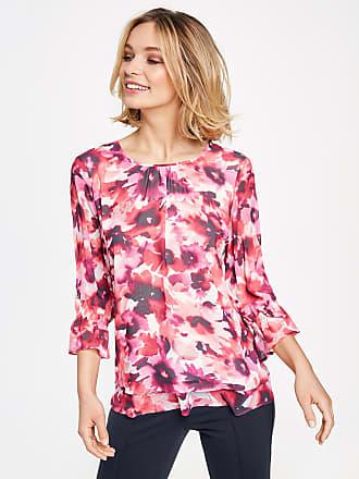 Kimono Bluse mit gerafftem Saum Lila-Pink Damen Gerry Weber