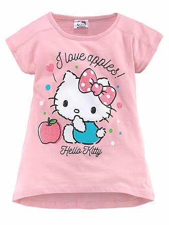 T-Shirt%2c Glitzerdruck%2c weiß%2c Normalgrößen%2c weiß-bunt Hello Kitty uuU09VKe
