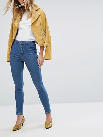 Exklusive, kurz geschnittene Hose mit Bindegürtel - Blau Miss Selfridge