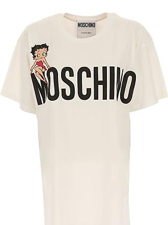 T-Shirts für Damen, TShirts Günstig im Sale, Weiss, Baumwolle, 2017, 38 44 46 Moschino