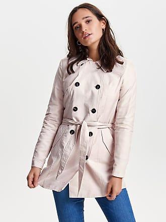 Klassischer Trenchcoat Dames Roze Only