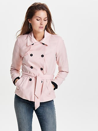 Kurzer Trenchcoat Dames White Only