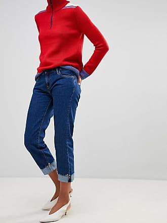 Betsie - Jeans mit niedriger Taille und Umschlag - Navy Pepe Jeans London